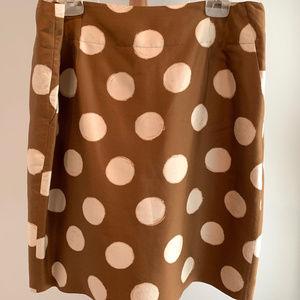 Banana Republic Silk Polka Dot Skirt